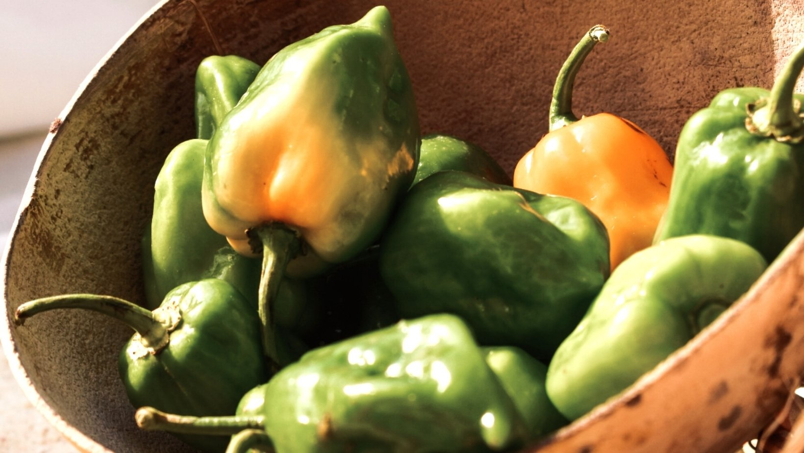 verduras de temporada en agosto el pimiento
